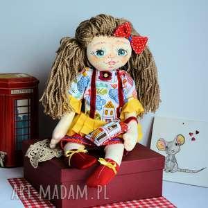 Lala ręcznie malowana - rozalka 50 cm brelok lalki maly koziolek