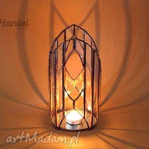 handmade świeczniki lampion witrażowy katedra skandynawska
