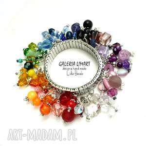bajecznie kolorowa bransoleta w stylu boho mnóstwo kolorowych koralików