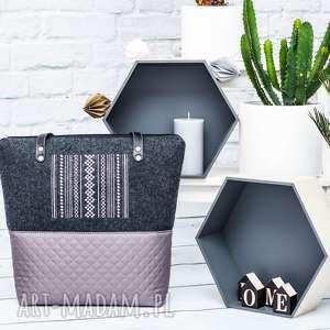 torebka pikowana z filcem city line 099, filc, pikowana, pojemna