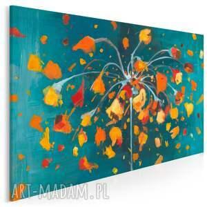 obraz na płótnie - kwiat abstrakcyjny płatki 120x80 cm 703501, płatki