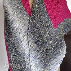 Asymetryczna chusta strzałka chustki i apaszki the wool art