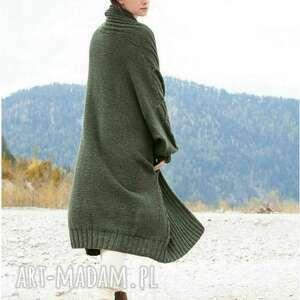 swetry płaszcz kaarina, płaszcz, sweter, merino, dziergany, luksusowy, prezent