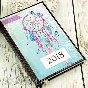 kalendarz książkowy-dream catcher, kalendarz, książkowy, 2018, łapacz, snów