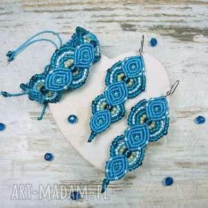 komplety elegancki komplet biżuterii w odcieniach turkusu, elegancki, prezent, lato