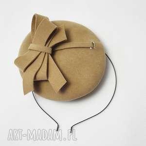 handmade ozdoby do włosów filemonka beżowa
