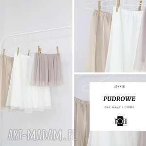 Pudrowe lekkie spódniczki , spodnica, pastelowa, tiulowa, pudrowa, zwiewna