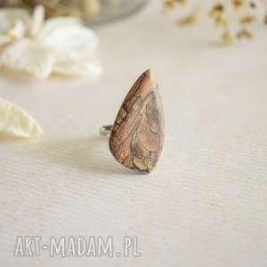 Pierścionek z drewna i żywicy sirius92 z-drewna, biżuteria leśna