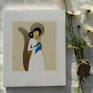 Obrazek z aniołem stróżem dla chłopca dziecka pracownia