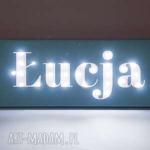 dla dziecka neon, obraz led z imieniem, personalizowany, dekoracja, napis, lampa