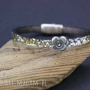 bransoletka glamour, bransoletka, rzemień, ekologiczny, zapięcie, magnetyczne