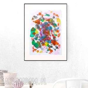 kolorowa abstrakcja, grafika, nowoczesny obraz, abstrakcyjny obraz