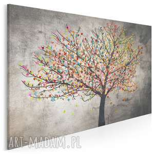obraz na płótnie - drzewo liście 120x80 cm 30601, drzewo, liście, kolory