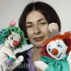 lalka pacynka zielony klown, lalka, pacynka, zabawka, maskotka kreatywna, klown