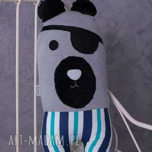 maskotki poduszka dziecięca miś pirat, miś, przytulanka, dekoracja