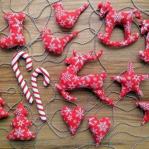 dekoracje zawieszki na choinkę zestaw 15 sztuk - mikołaj zawiwszka