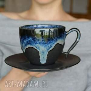 filiżanka ceramiczna morska czarny mat 270 ml, filiżanka, ceramika