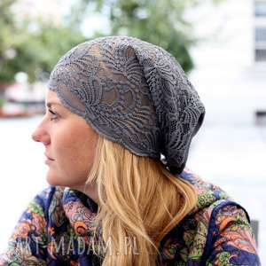 czapki czapka koronkowa bez podszewki damska, elegancka, stylowa, etno, damska