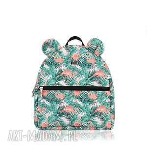 PLECACZEK FARBIŚ 1175 FLAMINGI , plecak, mały, uszka, flamingi