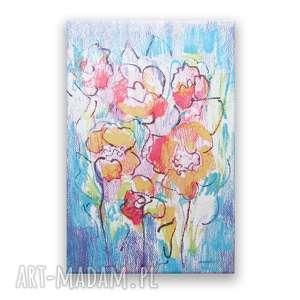 kolorowy obraz, nowoczesny łąka obraz na płotnie canvas