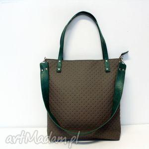 Shopper Bag, szara, torba, modna, oryginalna
