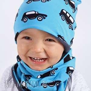 Czapka niebieskie autka, czapka, autka