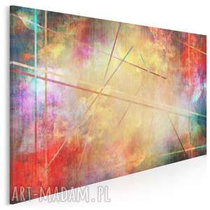 obraz na płótnie - abstrakcja kolory linie 120x80 cm 73301, kolorowy