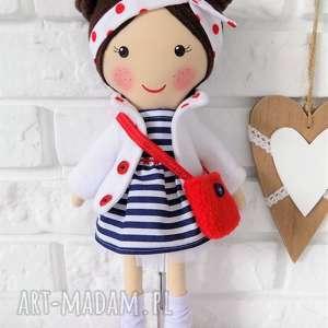 Prezent MALOWANA LALA HELENKA Z TOREBKĄ, lalka, zabawka, przytulanka, prezent