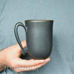 kubki kubek ceramiczny czarny mat 325ml, kubek, ceramika, ceramiczny
