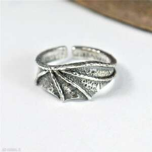 pierścionek smoczy ze srebra, smoczy, smok