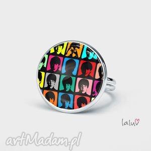 pierścionek the beatles, grafika, muzyczna, lennon, mccartney, prezent
