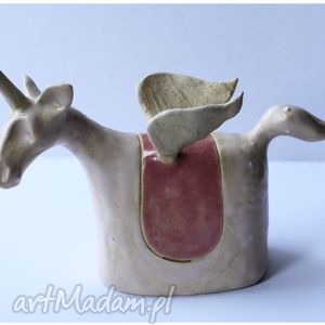 hand made ceramika jednorożec