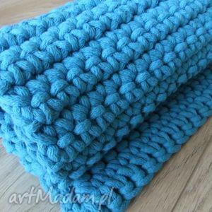 turkusowy dywan ze sznurka - dywan, niebieski, turkusowy, sznurkowy, bawełniany
