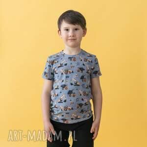 świąteczny prezent, koszulka t-shirt koparki, dla dziecka, t shirt