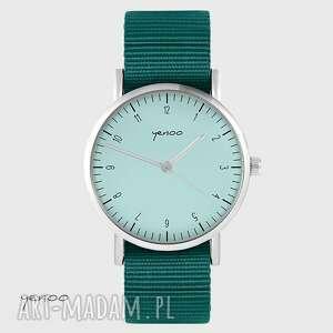 zegarki zegarek yenoo - simple, turkusowy morski, unisex, zegarek, klasyczny