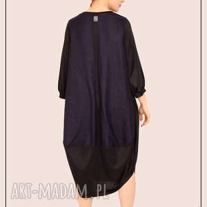 ręcznie robione sukienki minimalistyczna sukienka oversize m
