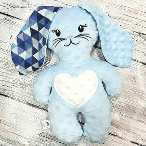 królik z uszami maskotka minky dla dziecka, minky