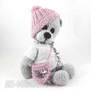 marcelina - szydełkowa misia, personalizacja, miś, dla dziewczynki, szydełkowy