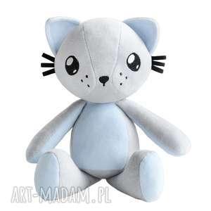 Kot przytulanka Poofy Cat Plushee szaro-błękitny, kot, kotek, przytulanka, maskotka