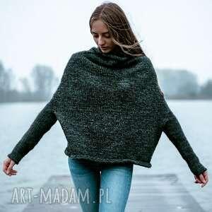 prezent na święta, sweter unno antracyt, ciepły sweter, naturalny, wełna, alpaka