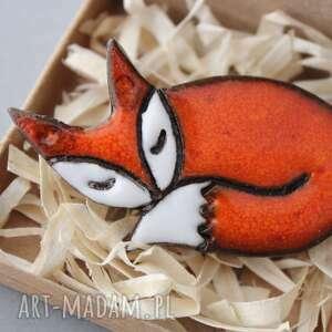 lisek-broszka ceramiczna, minimalizm, design, skandynawski, spryciara