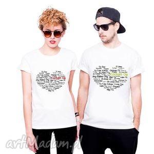 koszulka dla par kocham cię, love ubrania