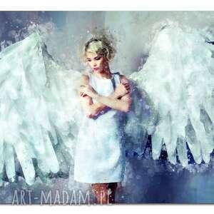 obraz xxl anioŁ 1 -120x70cm design na płótnie - anioł, kobieta