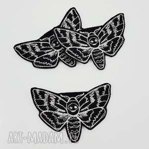 naszywka moth - ,naszywka,ćma,haftowana,filcowa,motyl,