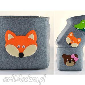 pojemnik na zabawki- rudy lisek - zabawki, lis, lisek, pokój, dziecko, pojemnik