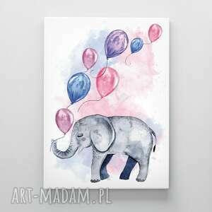 Canvas obraz płótno słonik 50x70 cm pokoik dziecka hogstudio