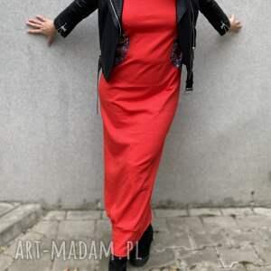 święta, czerwona sexy sukienka, maxi hoodie dress