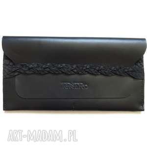 hand made portfele portmonetka z paskiem wzorem skóry węża