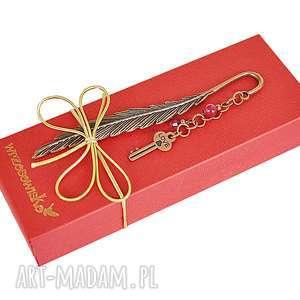 zakładki klucz do lektury - zakładka vintage, zakładka, klucz, książka, prezent
