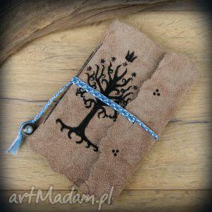 wolfpath studio notes a6 ze skórzaną miękką okładką drzewo gondoru - ręcznie robiony